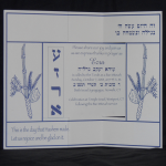 Invitation for Bar Mitzvah of Twins 2